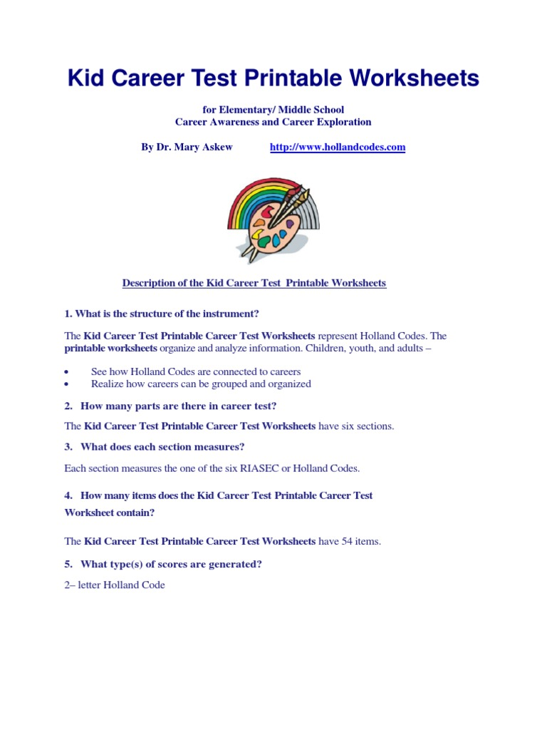 Worksheets Career Exploration Worksheets For Highschool Students career exploration worksheets printable livinghealthybulletin test special education teachers