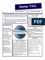 Swamp Talk, Okefenokee Toastmasters Club newsletter, May 2017