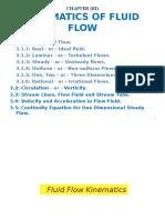 Fluid 1 Kinematics Ch3