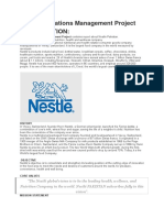 Nestle Operations Management Project