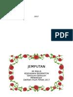 KAD Jemputan Badminton 2017 Ppd