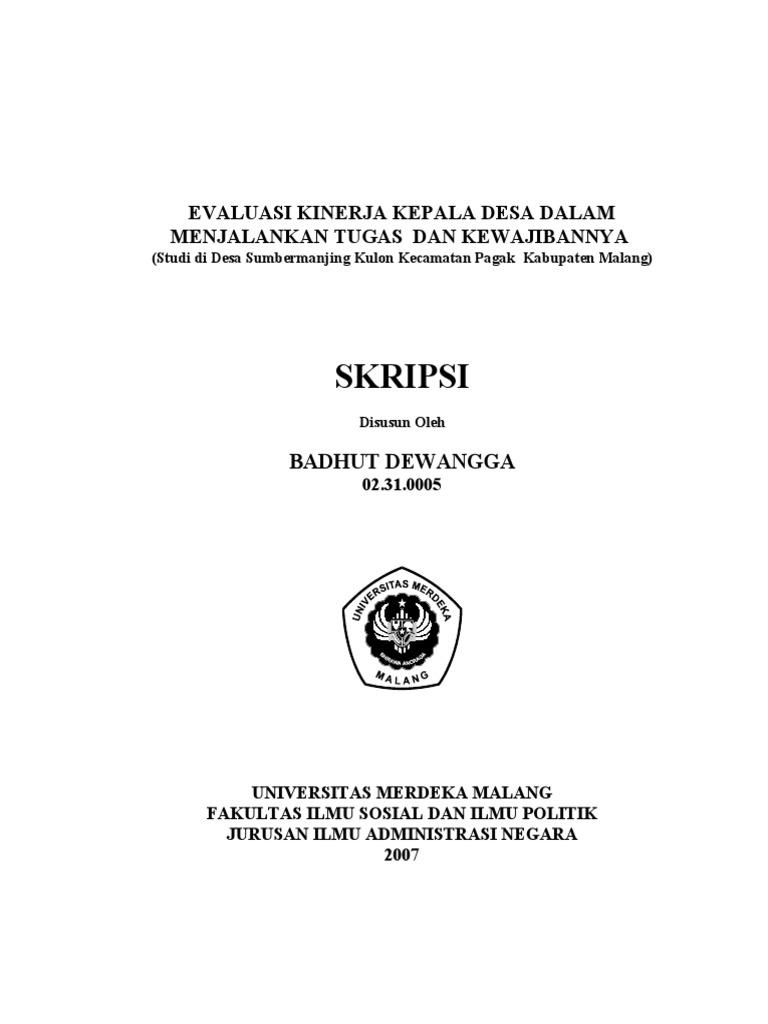 Contoh Skripsi Administrasi Negara Tentang Desa Contoh Soal Dan Materi Pelajaran 2