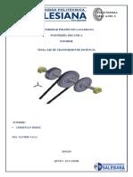 Informe Eje de Transmision de Potencia CAD
