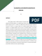 011 - De La Filosofía Analítica a Un Concepto Analítico de Derecho