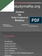 Civil Noise Control of Buildings Ppt