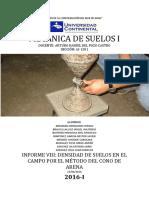 INFORME DEL CONO DE ARENA