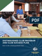 1111 Distinguished Club Program and Club Success Plan
