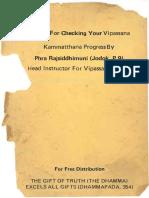 Vipassana Kammatthana