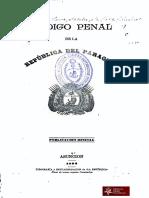 Código Penal de la República del Paraguay. Publicación Oficial. Asunción año 1892