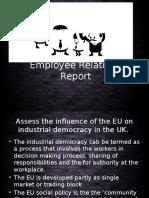 Employee Relations Report