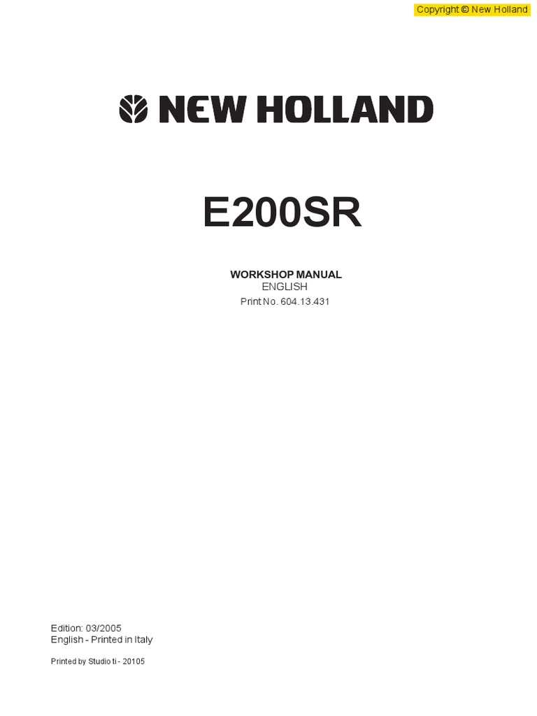 325324340-16089714-new-holland-e200sr-excavator-service-repair-manual.pdf |  Welding | Electrical Connector