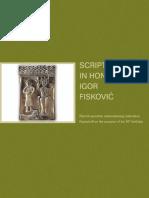 Scripta in Honorem Igor Fiskovic