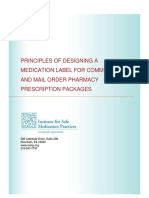 Principles of Designing a Medication Label for Community and Mail Order Pharmacy Prescription Packages