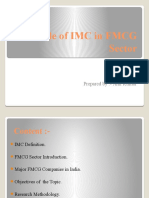 Role of IMC in FMCG