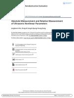 Absolute Measurement and Relative Measurement of Ultrasonic Nonlinear Parameters