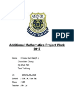 Additional Mathematics Project Work 2017