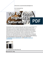 Saturated Food and Unsaturated Food