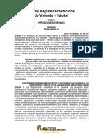 Ley Del Regimen Prestacional de Vivienda y Habitat