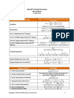 Partial Fractions Cheat Sheet 2016