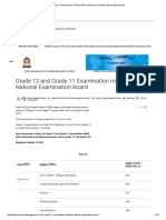 _Grade 12 and Grade 11 Examination Routine From National Examination Board