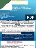 Importancia de Publicar Investigaciones en Revistas Indexadas