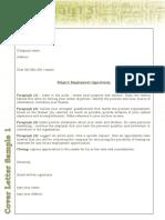 LINK Cover Letter