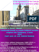 Contribuția Evreilor Evoluția Orașului Timișoara