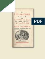 Una rara traduzione dello Spaccio de la bestia trionfante. Il Ciel Reformé dell'Abbé de Vougny.