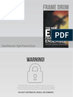 8DIO Epic Frame Drum User Manual