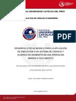 DESARROLLO DE UN MODELO PARA LA APLICACION DE UN SISTEMA DE CARGUIO Y DESMONTE A UNA MINA A TAJO AVIERTO.pdf