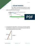 4 ESO Academics - Unit 07 - Exercises 4.7.3 - Solving Triangles.