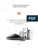 Guide to Good Practice Taught 2005