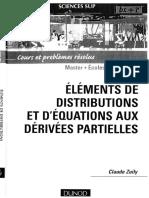 (Sciences sup. Mathématiques) Claude Zuily-Éléments de distributions et d'équations aux dérivées partielles _ cours et problèmes résolus-Dunod (2006)