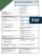 1- Health Facility Questionnaire