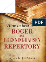 Master How to Best Use Boger and Boenninghausen Repertory Contents Reading Excerpt