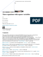 Three Equations With Square Variables - Sinuhé Ancelmo _ Brilliant