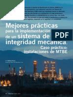 Mejores practicas para la implementacion de un sistema de integridad mecanica