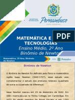ProfessorAutor-Matemática-Matemática I 2º Ano I Médio-Binômio de Newton