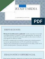 Medicina III - Pubertad Tardia