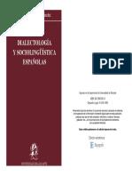 Sociolingüística y Dialectología Españolas (186 Pág)