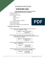 Guia Rapida EUROSONIC 2000