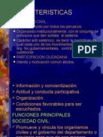 Caracteristicas Sociedad Civil