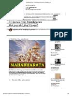 Mahabharata Story - Interesting Untold Stories of Mahabharata
