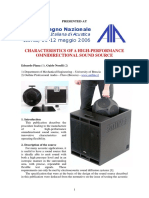 Characteristics of a High-Performance Omnidirectional Sound Source - Edoardo Piana