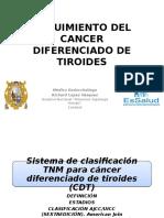 Medicina III - Cáncer de Tiroides