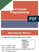 3-4 Linear Programming