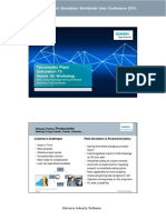 19 Piepenbrock Siemens Hands on Workshop Introduction to Plant Simulation Version 13