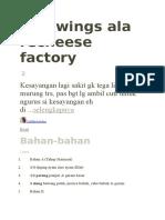 Fire Wings Recheese Factory