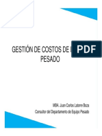 02 Gestión de Costos de Mantenimiento de Equipo Pesado - Costo Global de Mantenimiento