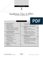 Chapter 3 Equilibrium Types in HPLC 2013 Essentials in Modern HPLC Separations